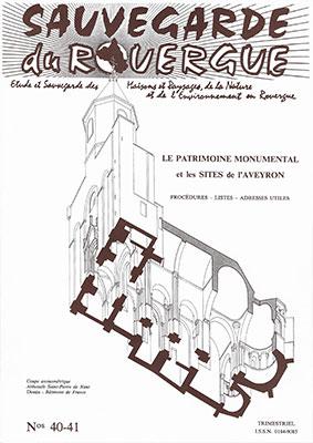 Le Patrimoine Monumental et Les Sites de l'Aveyron Procédures – Listes – Adresses Utiles