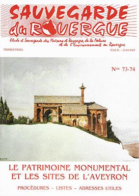 Le Patrimoine et les sites de l'Aveyron (Maj 2001)