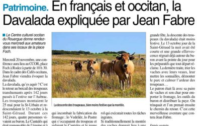 En français et occitan, la Davalada expliquée par Jean Fabre